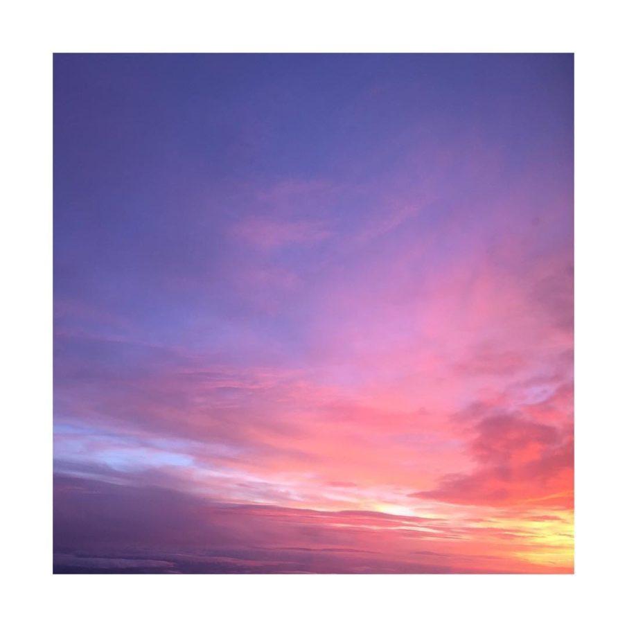 Der Himmel ber Mnchen pinkclouds sky abendrot
