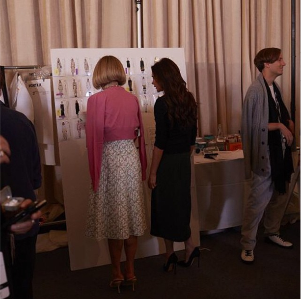 Anna Wintour and Victoria Beckham at Beckhams SS 15 show. Photo: Instagram/victoriabeckham