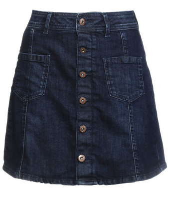 Denim Skirt medium blue tinted via Zalando
