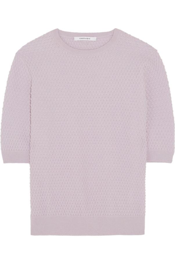 Pullover von Carven mit kurzen Ärmeln über stylebop.com, jetzt 144 Euro, vorher 240 Euro