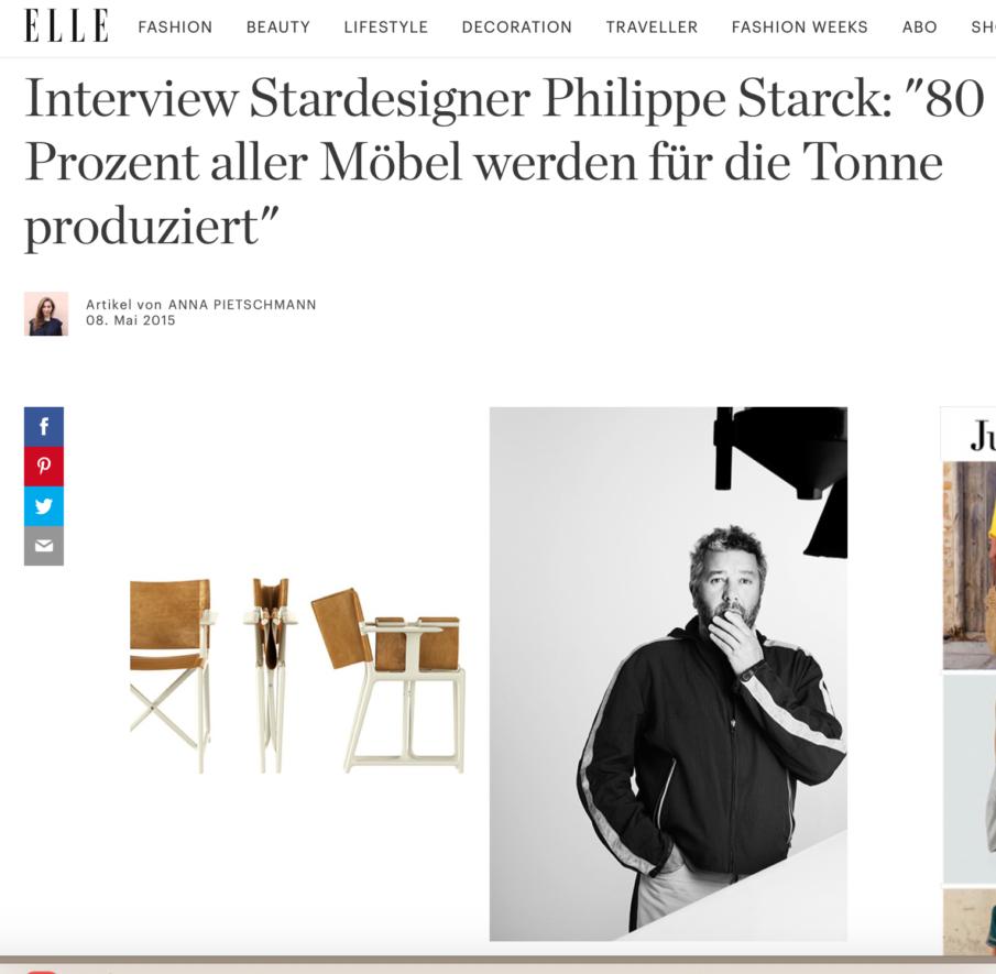 Interview mit Philippe Starck, Anna Ostrowski, ELLE online